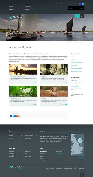 Norfolk Broads Authority - Website design