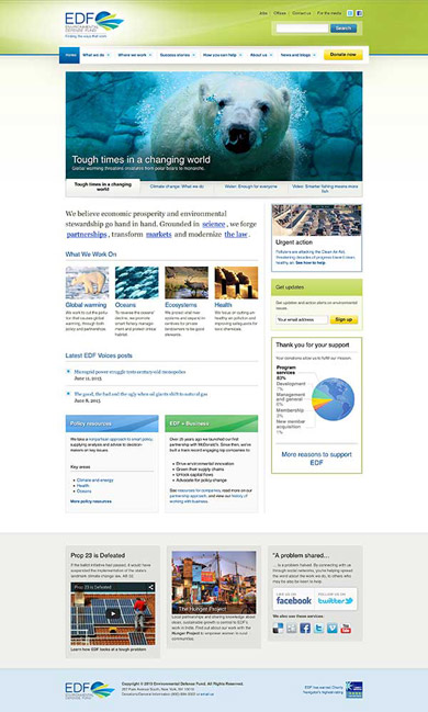 Environmental Defense Fund - Website design