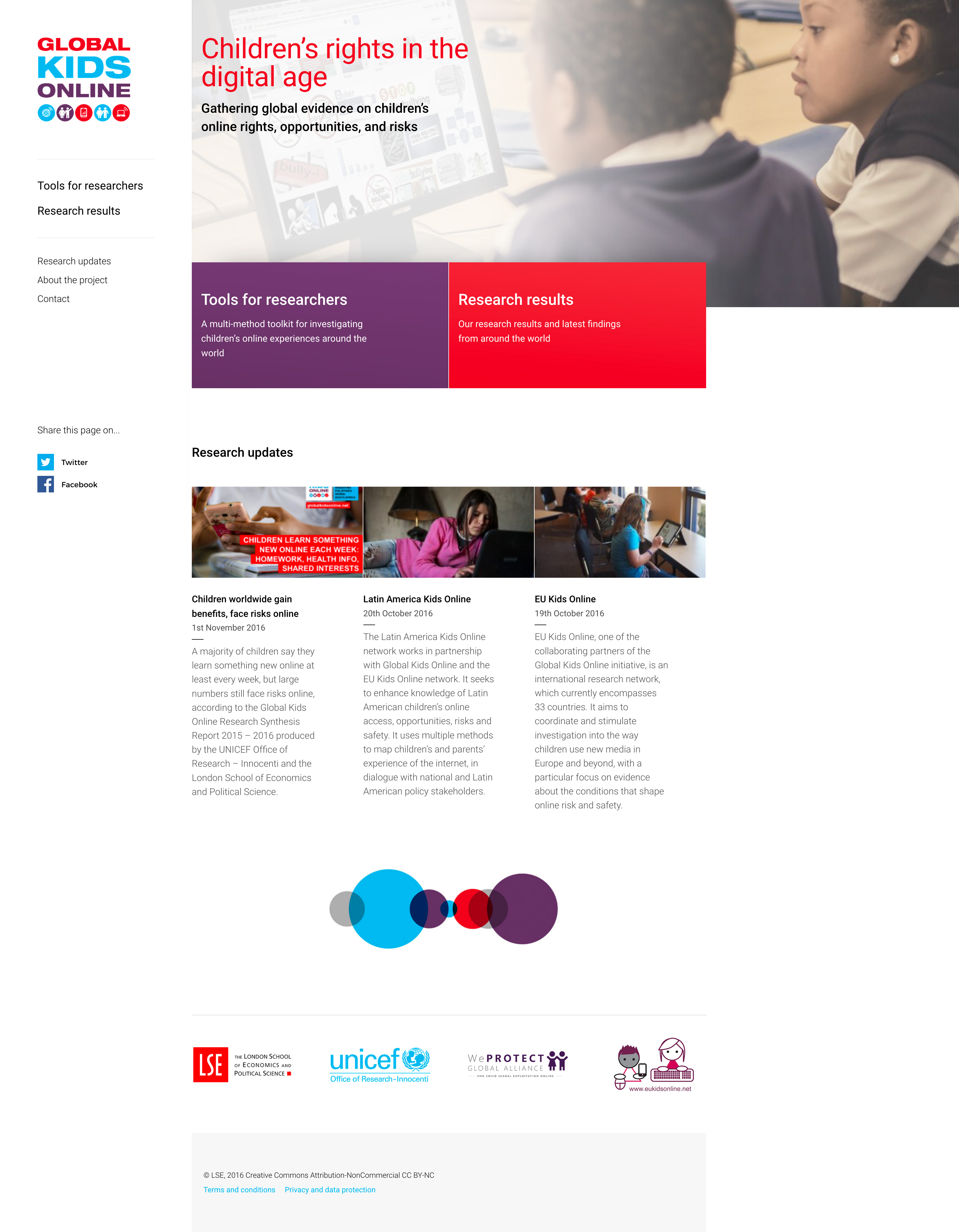 Global Kids Online - Website design
