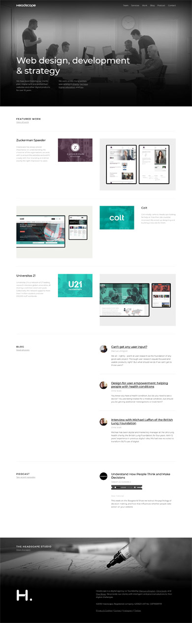 Headscape - Website design