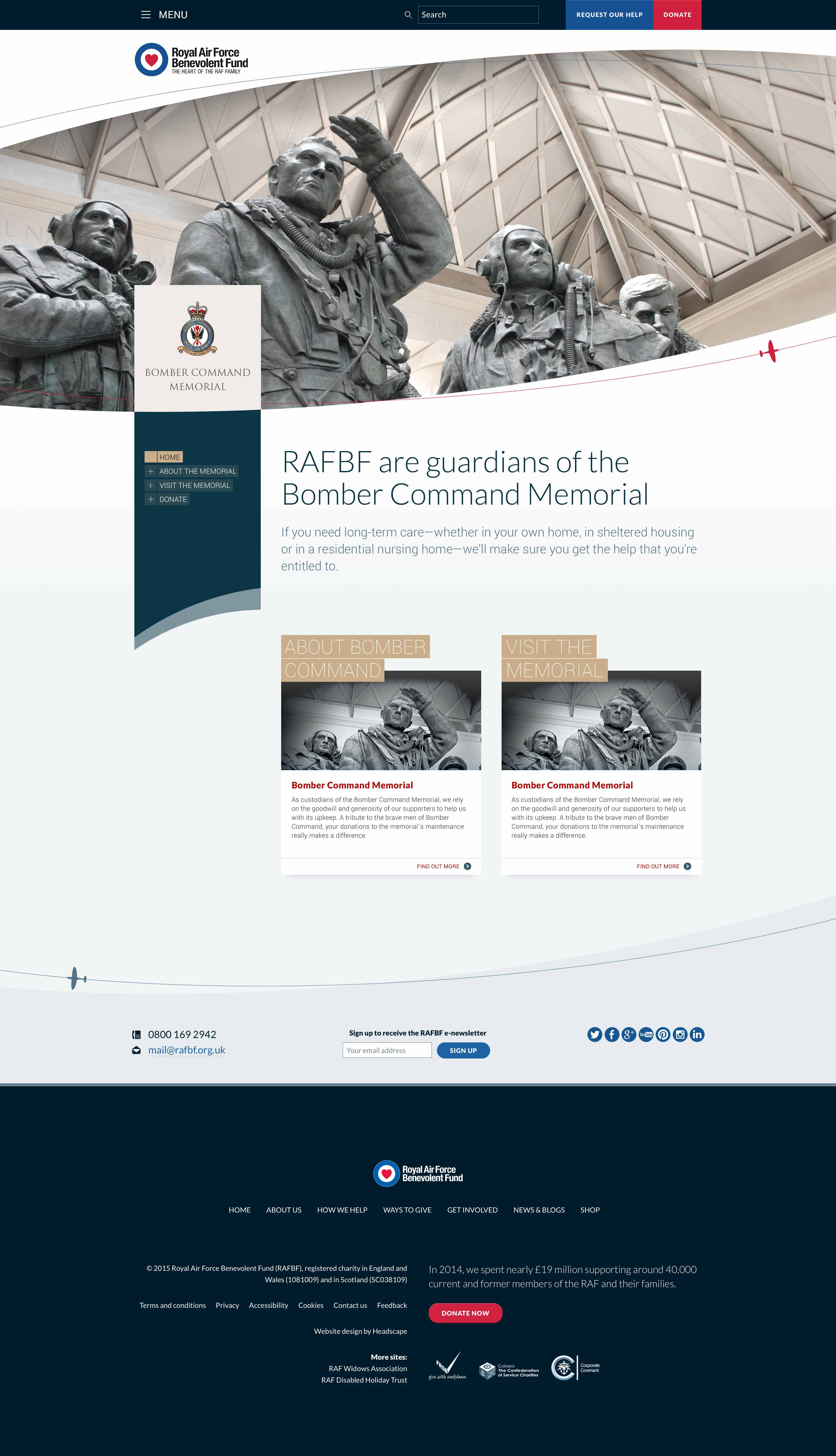 Royal Air Force Benevolent Fund - Website design