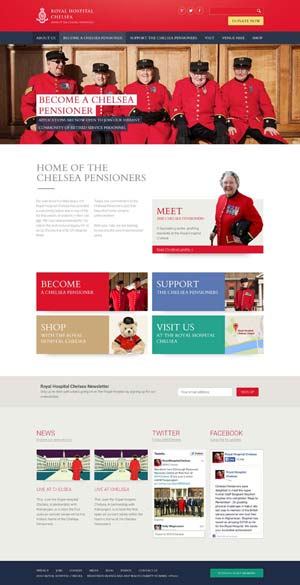 Royal Hospital Chelsea - Website design