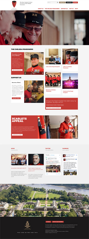 Chelsea Pensioners - Website design