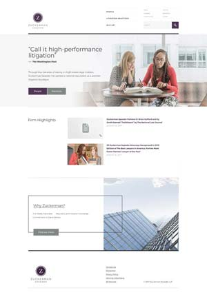 Zuckerman Spaeder - Website design